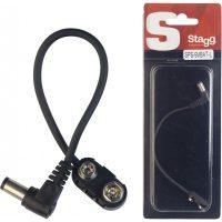 stagg-sps-9vbat-l-batterijclip-voor-effectpedalen-haaks